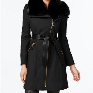 Via Spiga faux fur wool-blend Coat